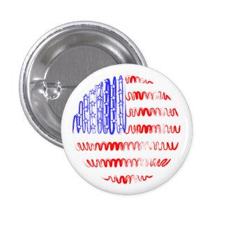 USA on White 3 Cm Round Badge
