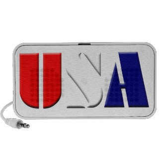 USA on White Background Mini Speakers