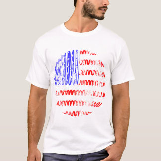 USA on White Tee Shirt