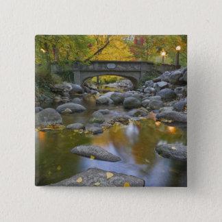 USA, Oregon, Ashland, Lithia Park. Autumn 15 Cm Square Badge