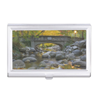 USA, Oregon, Ashland, Lithia Park. Autumn Business Card Holder