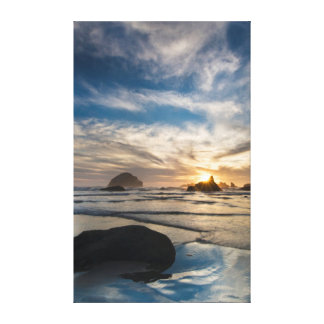USA, Oregon, Bandon Beach. Face Rock Canvas Print