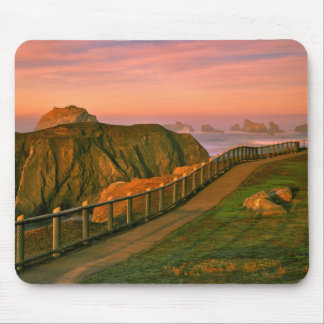 USA, Oregon, Bandon. Rocks Viewed From Trail Mouse Mat
