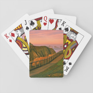 USA, Oregon, Bandon. Rocks Viewed From Trail Playing Cards