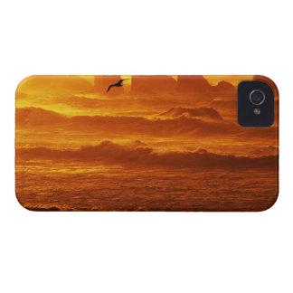 USA, Oregon, Bandon. Sunset over waves and sea iPhone 4 Cover