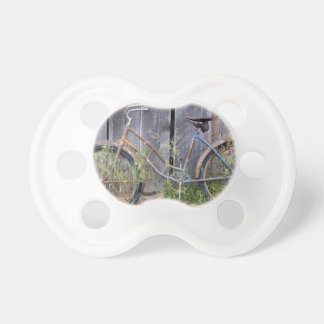 USA, Oregon, Bend. A dilapidated old bike Baby Pacifiers