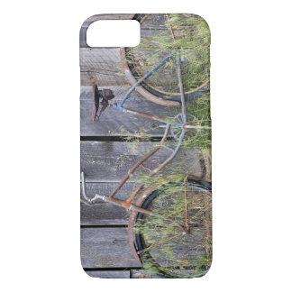 USA, Oregon, Bend. A dilapidated old bike iPhone 7 Case