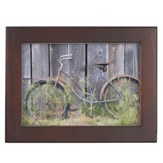 USA, Oregon, Bend. A dilapidated old bike Memory Box