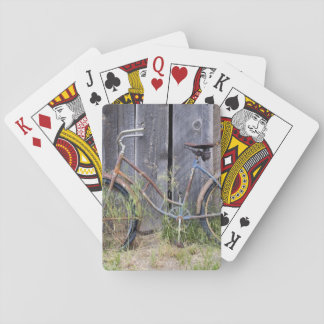 USA, Oregon, Bend. A dilapidated old bike Playing Cards