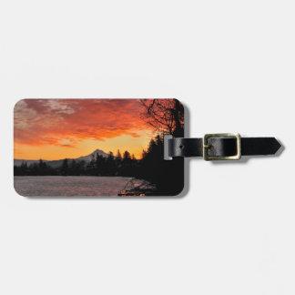 USA, Oregon. Blue Lake And Mt Hood At Sunrise Luggage Tag