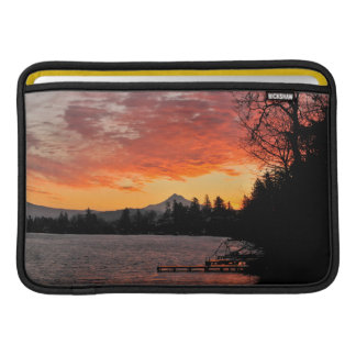 USA, Oregon. Blue Lake And Mt Hood At Sunrise MacBook Sleeve
