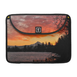 USA, Oregon. Blue Lake And Mt Hood At Sunrise Sleeve For MacBook Pro