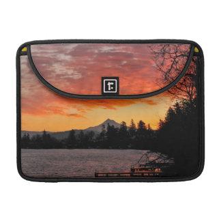 USA, Oregon. Blue Lake And Mt Hood At Sunrise Sleeve For MacBooks