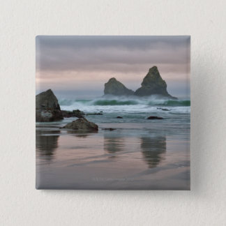 USA, Oregon, Bullards Beach 15 Cm Square Badge