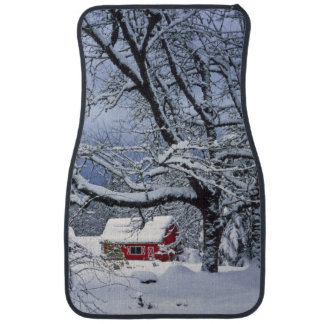 USA, Oregon, Clackamas County. Fresh snow covers Car Mat