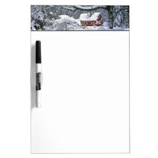 USA, Oregon, Clackamas County. Fresh snow Dry Erase Board
