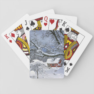 USA, Oregon, Clackamas County. Fresh snow Playing Cards