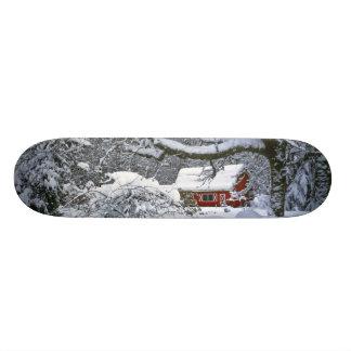 USA, Oregon, Clackamas County. Fresh snow Custom Skateboard
