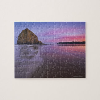 USA, Oregon, Clatsop County, Haystack Rock and Jigsaw Puzzle