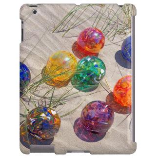 USA, Oregon. Colorful Glass Floats On Sand Dune iPad Case