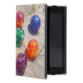 USA, Oregon. Colorful Glass Floats On Sand Dune iPad Mini Cover