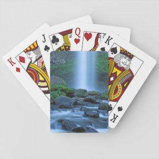 USA, Oregon, Columbia Gorge, Latourell Falls Playing Cards