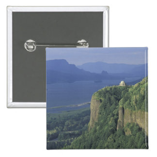 USA, Oregon, Columbia River Gorge NSA. View of 15 Cm Square Badge