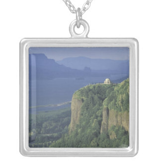 USA, Oregon, Columbia River Gorge NSA. View of Silver Plated Necklace