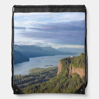 USA, Oregon, Columbia River Gorge, Vista House Drawstring Bag