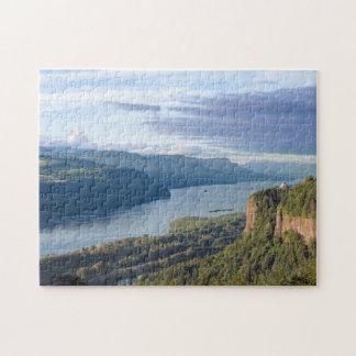 USA, Oregon, Columbia River Gorge, Vista House Jigsaw Puzzle