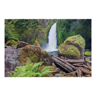 USA, Oregon, Columbia River Gorge, Wahclella Poster