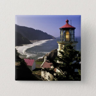 USA, Oregon, Florence. Heceta Head Lighthouse 15 Cm Square Badge