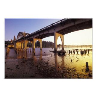 USA, Oregon, Florence. Siuslaw Bridge and Photo Art