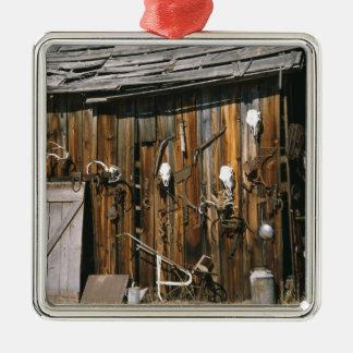 USA, Oregon, Harney County. Old livery stable Christmas Ornament
