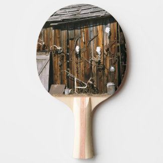 USA, Oregon, Harney County. Old livery stable Ping Pong Paddle