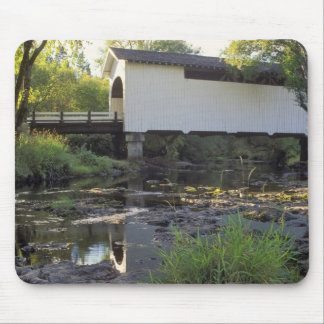 USA, Oregon. Harris covered bridge over Marys Mouse Pad
