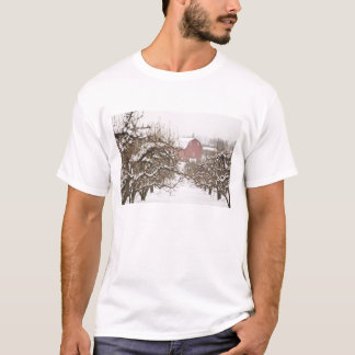 USA, Oregon, Hood River. Snow covered Apple T-Shirt