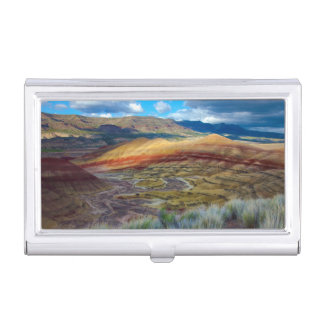 USA, Oregon. Landscape Of The Painted Hills Business Card Holder