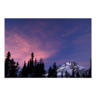 USA, Oregon, Mount Hood from Timberline Poster