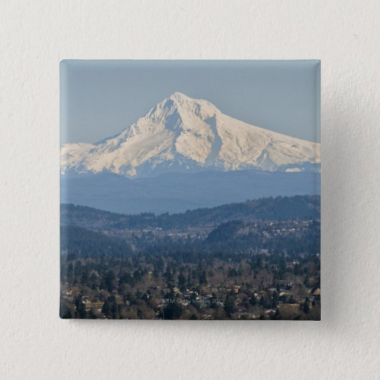 USA, Oregon, Mount Hood in winter 15 Cm Square Badge
