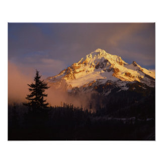 USA, Oregon, Mt. Hood National Forest. Rolling Poster