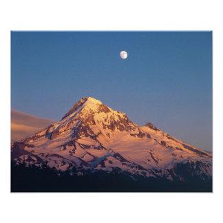 USA, Oregon, Mt Hood. Sunset creates alpenglow Photo Print