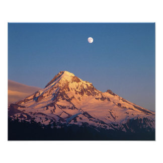 USA, Oregon, Mt Hood. Sunset creates alpenglow Photo Print