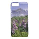USA, Oregon, Nesika Beach. Lupine and Oregon iPhone 7 Case