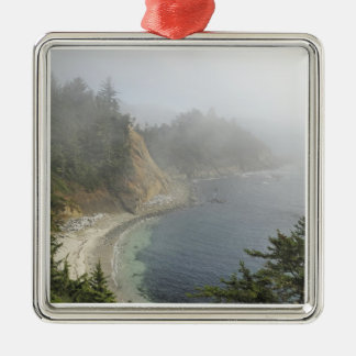 USA, Oregon, Ocean View, Cape Arago, Bandon Silver-Colored Square Decoration
