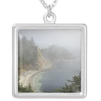 USA, Oregon, Ocean View, Cape Arago, Bandon Silver Plated Necklace