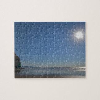 USA, Oregon, Pacific City, sun and beach Jigsaw Puzzle