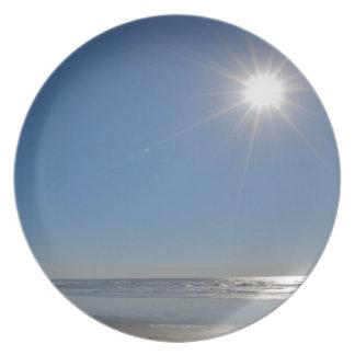 USA, Oregon, Pacific City, sun and beach Plate