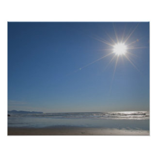 USA, Oregon, Pacific City, sun and beach Poster