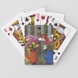 USA, Oregon, Portland. Antique enamelware Playing Cards